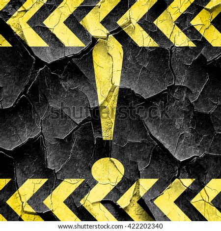 Hazard warning sign, black and yellow rough hazard stripes