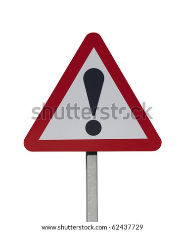 hazard warning sign on white background