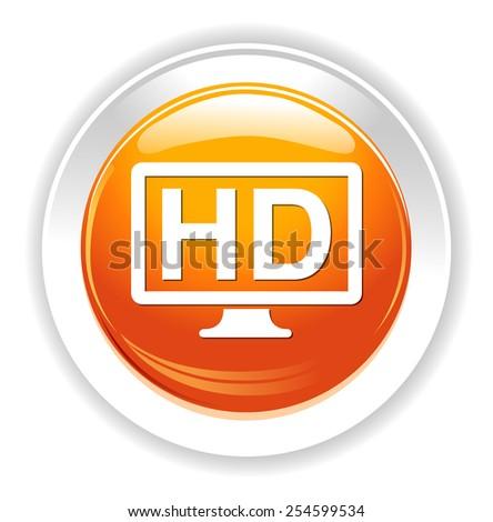 hd display icon - stock photo