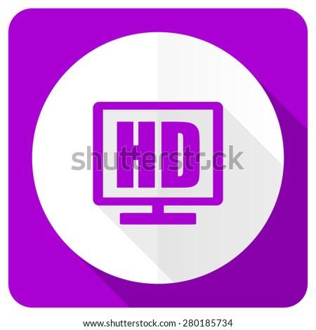hd display pink flat icon   - stock photo