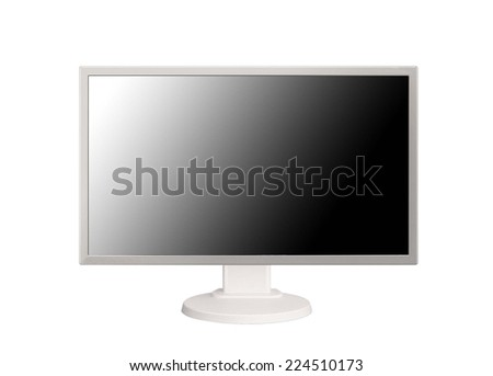 HD monitor isolated on white