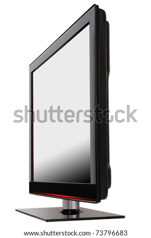 HD Television. Isolated - stock photo
