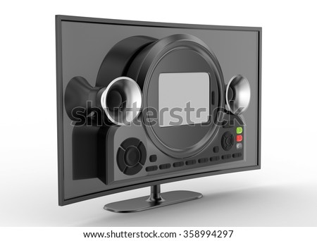Hd tv monitor with wide screen