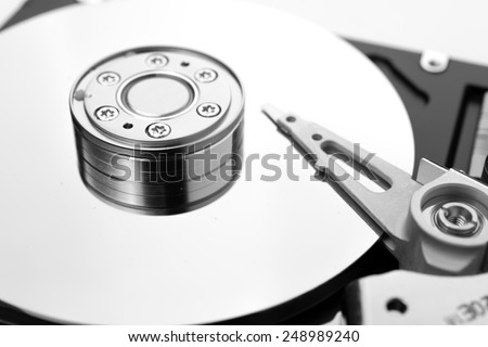 HDD on white - stock photo