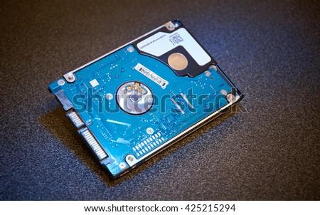 "HDD 2.5"" printed circuit board (PCB) - stock photo"