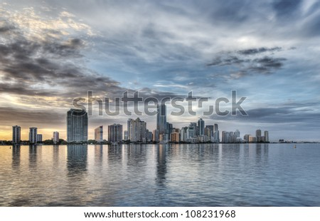 HDR of Miami Skyline