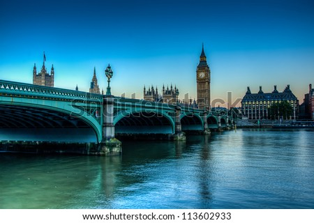 HDR Shot of westminster Bridge