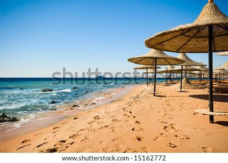 he coast of sharm el sheikh in Egypt - stock photo