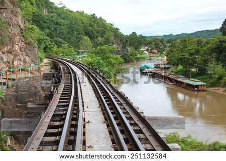 he Death Railway. The Japanese in 1942, allied POWs and Asian Eventually 100,000 people died from horrific working build conditions railway to Burma. - stock photo