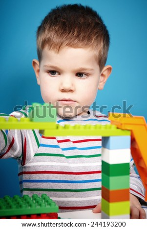 He does not want stop to play - stock photo