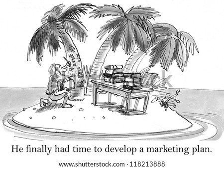 He finally had time to develop a marketing plan. - stock photo