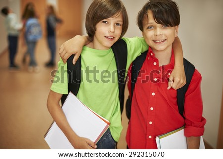 He is my best friend - stock photo