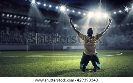 He is the champion - stock photo