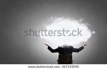 He is up in clouds