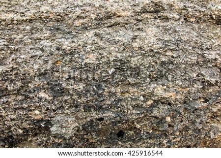 He rocks in the Beskid Slaski in Poland as a background - stock photo