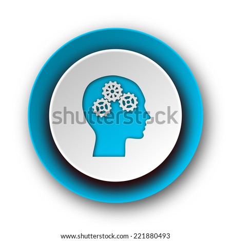head blue modern web icon on white background