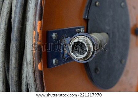 head cable electric  - stock photo