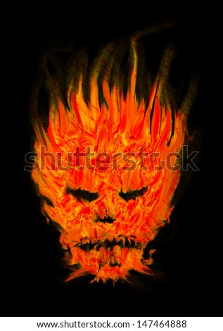 head devil abstract fire