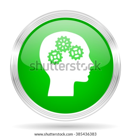 head green modern design web glossy icon