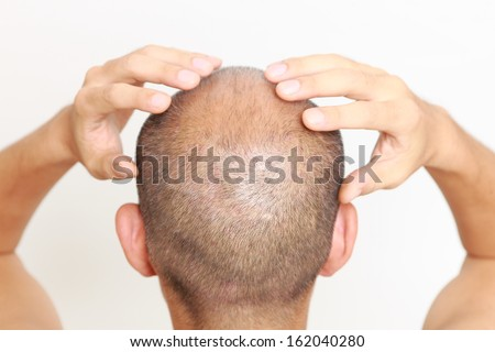 head massage - stock photo