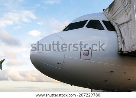 head of a plane - stock photo