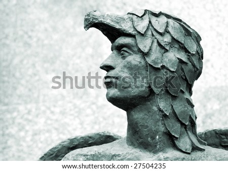 head of Icarus - stock photo