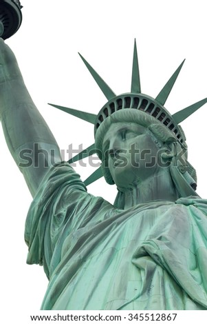 Head of Lady Liberty in New York City. (USA)