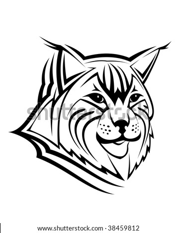 Head of lynx. Vector version also available - stock photo
