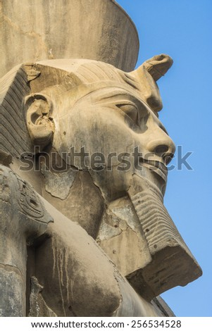 Head of Ramses II at the Luxor Temple, Egypt - stock photo