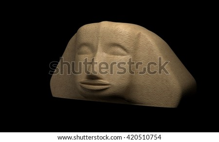 Head of Sphinx Giza, Egypt. 3d render - stock photo