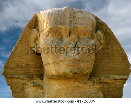 Head of the Sphinx - stock photo