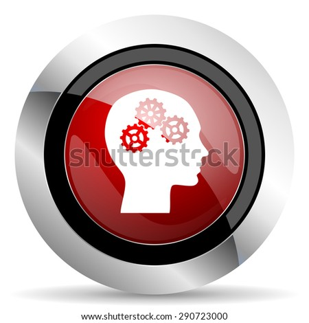 head red glossy web icon original modern design for web and mobile app on white background  - stock photo