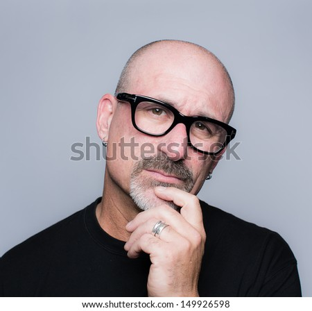 Sensational Head Shot Middle Aged Bald Man Stock Photo 149926607 Shutterstock Hairstyles For Women Draintrainus