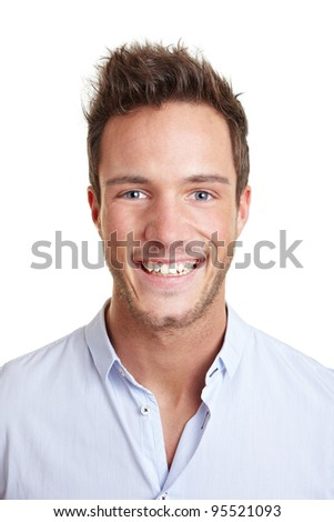 Head shot of attractive smiling young business man
