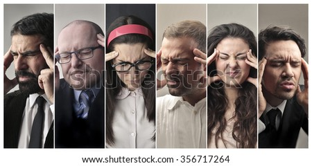 Headache and troubles - stock photo