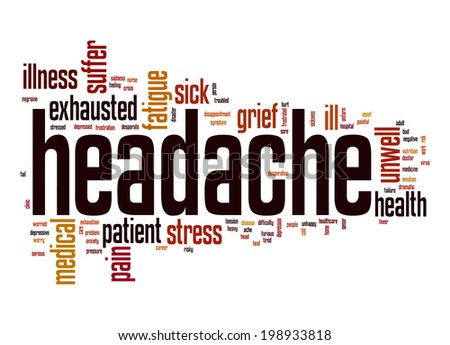 Headache word cloud - stock photo