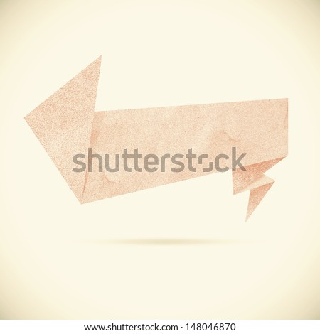 Header tag recycled paper on vintage tone background - stock photo