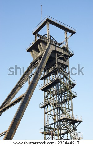 Headgear core 5 of the coal mine Radbod in Hamm, Germany
