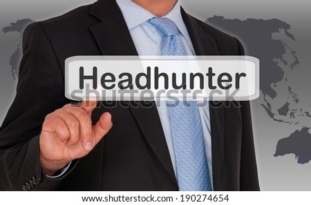 Headhunter - Job Search - stock photo