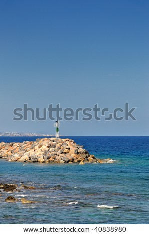 headland on the greek coastline