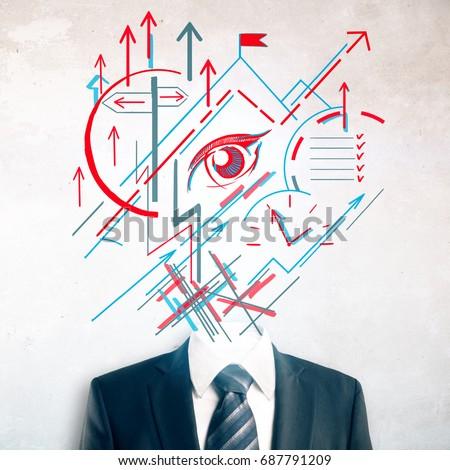 Headless Royalty Free Stock Music  >> Headless Businessman Suit Tie Abstract Geometric Stock Photo