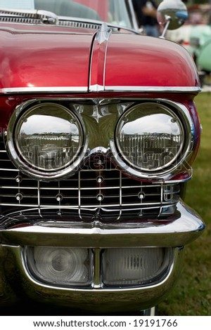 Headlight on a American car from the fifties