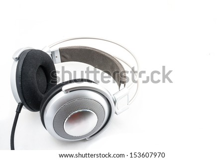 headphone in isolated  - stock photo
