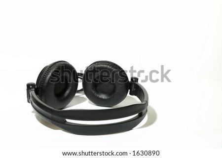 Headphone Smiley - stock photo