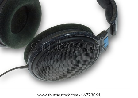 Headphones close up - stock photo