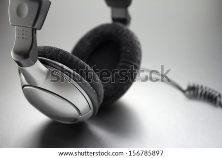 Headphones, closeup