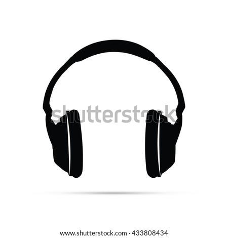 Headphones Icon.  Raster Version - stock photo