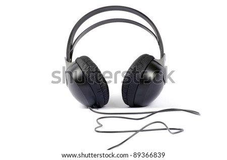 headphones isolated on a white