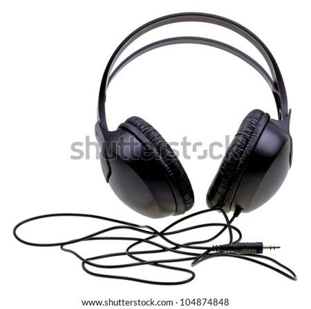 Headphones isolated on white background - stock photo