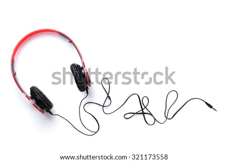 Headphones. Isolated on white background - stock photo